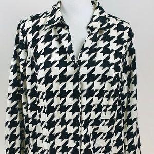 Lane Bryant Black White Blouse Size 20